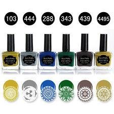 6stk BORN PRETTY 15ml Nagel Stamping Lack Stempellack Polish Maniküre set
