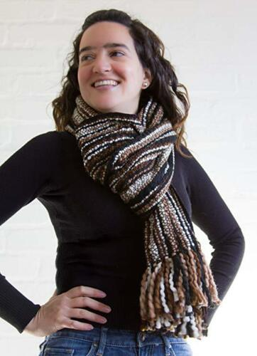 Luxurious Soft Wool Extra Long Winter Striped Scarf Hand Woven in Ecuador