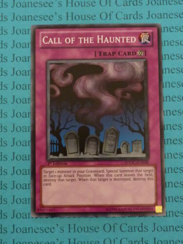Call of the Haunted SDDC-EN038 Common Yu-Gi-Oh Card Mint 1st Edition New