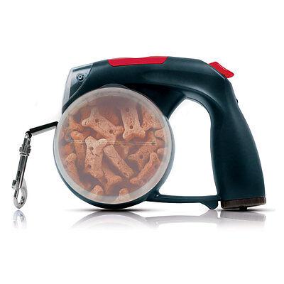LeashPlus 6-in-1 Smart Dog Leash-Black/Waist Bag/Water Bowl/Light/Clock