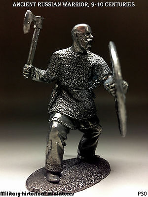 Tin soldiers 54 mm  Ancient  Russian warrior  9-10 centuries