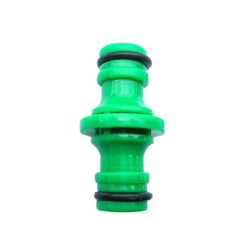 2 Way Garden Hose Connector Quick Joiner Coupler 1//2Inch Male to 1//2Inch Male
