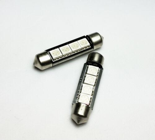 2x Festoon 42mm 264 Ultra Bright 4 SMD LED SV8,5 Number Plate Interior Bulbs E