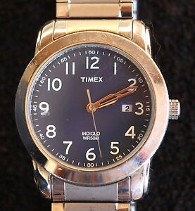 Timex-Indiglo-Day-WR50M-Mens-Watch-Working