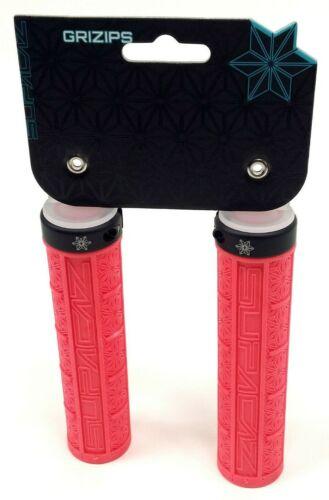 SUPACAZ Grizips Lock-On Mountain Bike Grips Hot Pink//Black