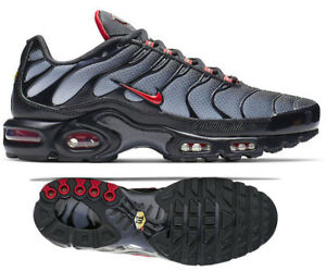 detailed look 79b5e b8e2c Details about New NIKE Air Max Plus TN Men's Sneakers black gray red all  sizes