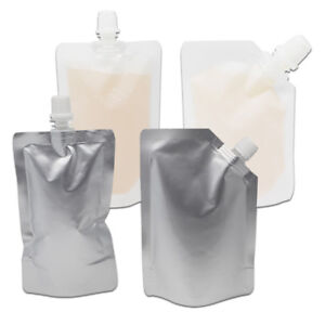 Image Is Loading Spout Bag Flat Amp Stand Up Bags Liquid