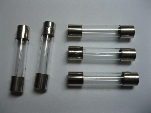 100 Pcs ceramic Fuse 30A 250V 6mm x 30mm Fast Blow