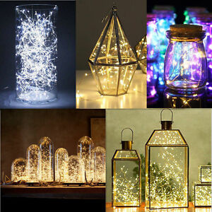 2-5-10M-Button-Battery-LED-Copper-Wire-String-Fairy-Lights-Xmas-Party-SU