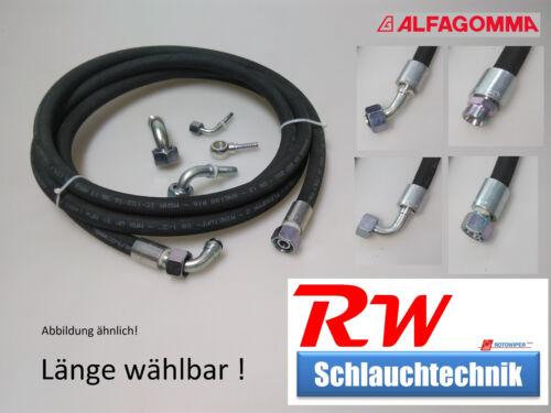 DN 13 – 2 SC – 15L M22x1,5 Alfagomma Hydraulikschlauch IG//AG Premium Qualität