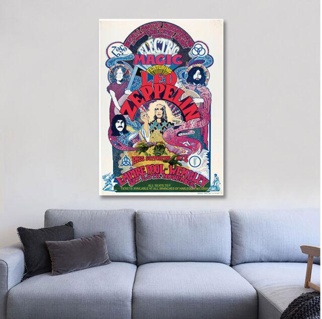 Led Zeppelin Electric Magic Wembley Concert Music Poster Print 24x36 D14 For Sale Online Ebay