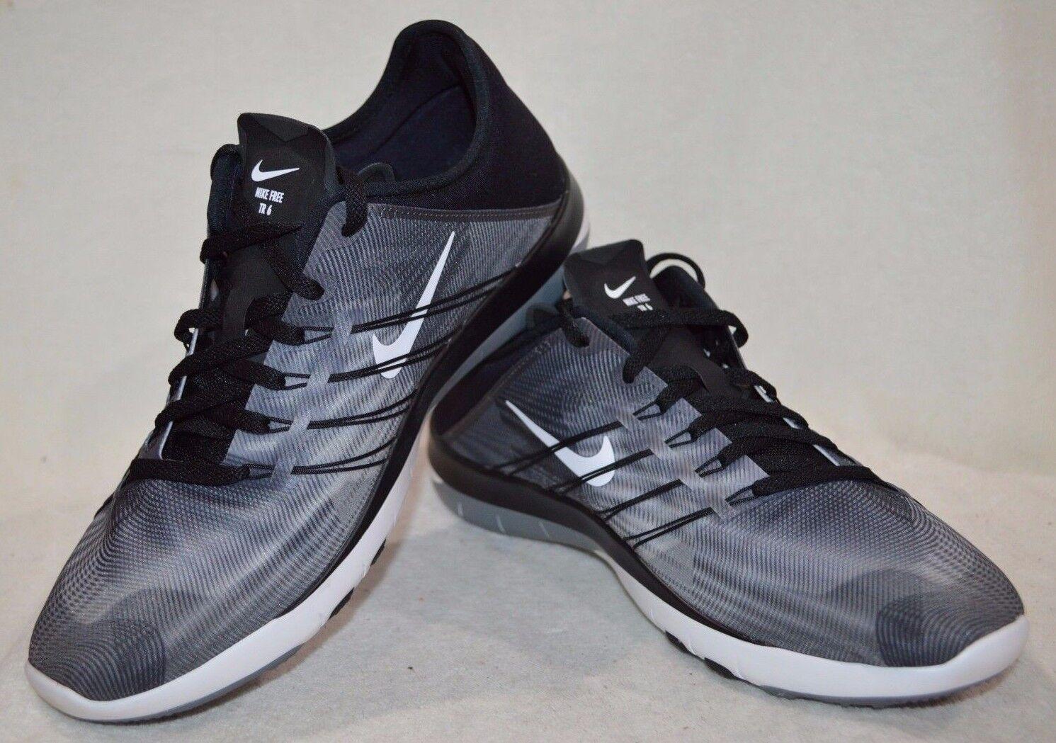 Nike Free TR 6 stampa Nero Bianco Grigio Donna Scarpe da Training-ASST Taglie NWB