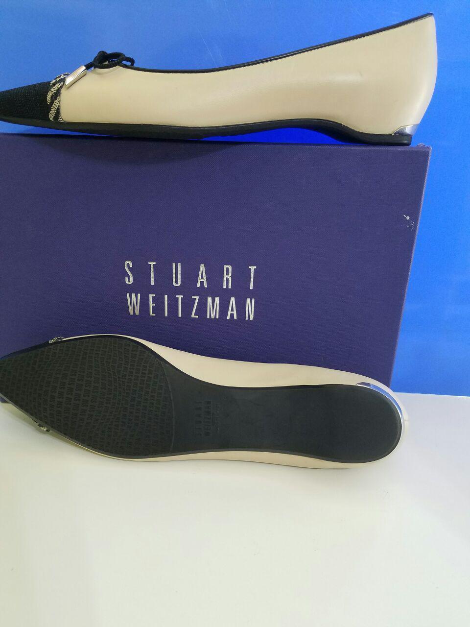 New Women's Women's Women's Stuart Weitzman shoes PW17302 Capricorn Pan Black SZ 8.5N 17035d