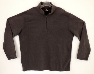The-North-Face-Mens-XL-Fleece-Pull-Over-1-4-Zip-Top-Gray-Super-Soft-amp-Warm