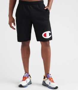 Champion-Black-Reverse-Weave-Cut-Off-Big-C-Shorts