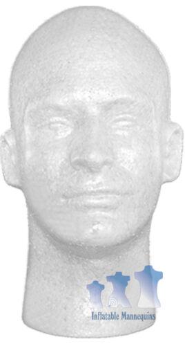 Male Head Styrofoam White