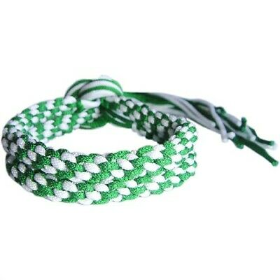 GREEN /& WHITE MUAY THAI THAIBOXING FIGHTER COMPETITION RING PRAJEAT ARM BANDS