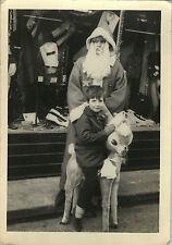 PHOTO ANCIENNE - VINTAGE SNAPSHOT -PÈRE NOËL FÊTE DÉGUISEMENT ENFANT-CHRISTMAS 2