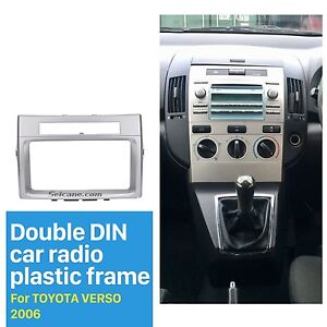 car stereo radio fascia face panel frame 2din for toyota corolla