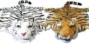Fourrure de tigre Tiger en Peluche Animal Descente lit blanc ou marron