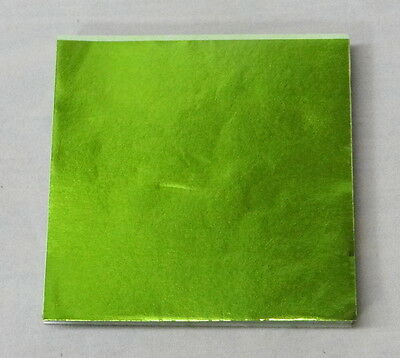 """Lime Green  Candy Foil Wrappers Confectionery Foil 500 count 3/""""x3/"""" 6/""""x6/"""" 4/""""x4/"""""""