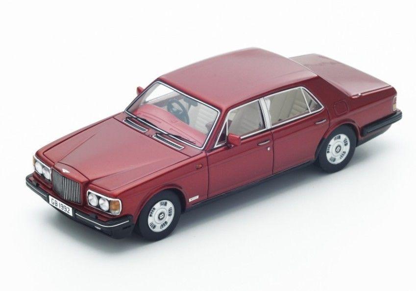 S3812 Spark 1 43  Bentley Brooklands Perla rosso metálico con asientos Pergamino 1992