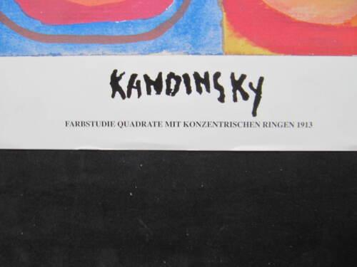 Kandinsky Kunstdruck 60 x 80 cm Farbstudie Quadrate 1913