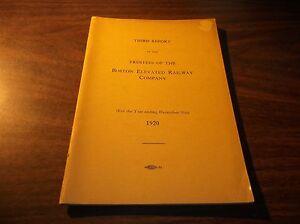 1920 BOSTON ELEVATED RAILWAY COMPANY TRUSTEES THIRD REPORT