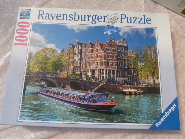 Ravensburger Puzzle 1000 Teile vollständig - Grachtenfahrt in Amsterdam