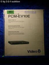 Sony Bedienungsanleitung PCM EV10E Stereo Processor (#0483)