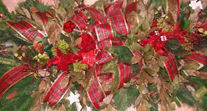 36-034-x-24-034-Christmas-Valentines-Day-Holiday-Silk-Flowers-Ribbons-Grave-Blankets