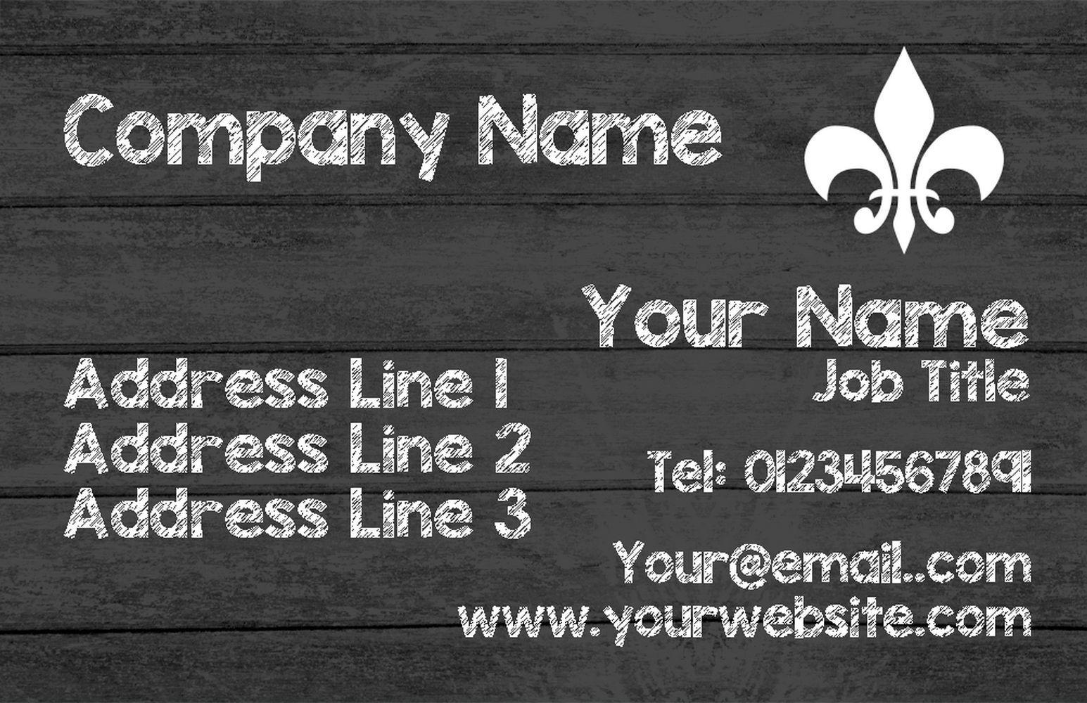 grau Wood Personalised Business Cards