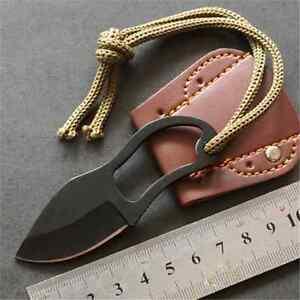 Mini-Cool-Finger-Paw-Pocket-Blade-SelfDefense-Survival-Fishing-Neck-Knife-Sheath