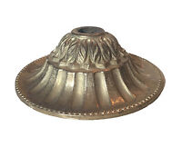 3 1/8 Solid Brass Ornate Vase Cap Bobeche Lamp Part Raw Unfinished