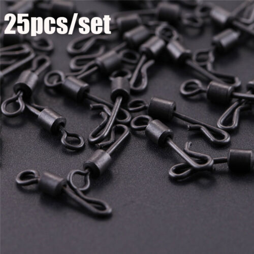 Terminal Quick Change Swivels Snap Solid Rings Fishing Connector Rolling Swive