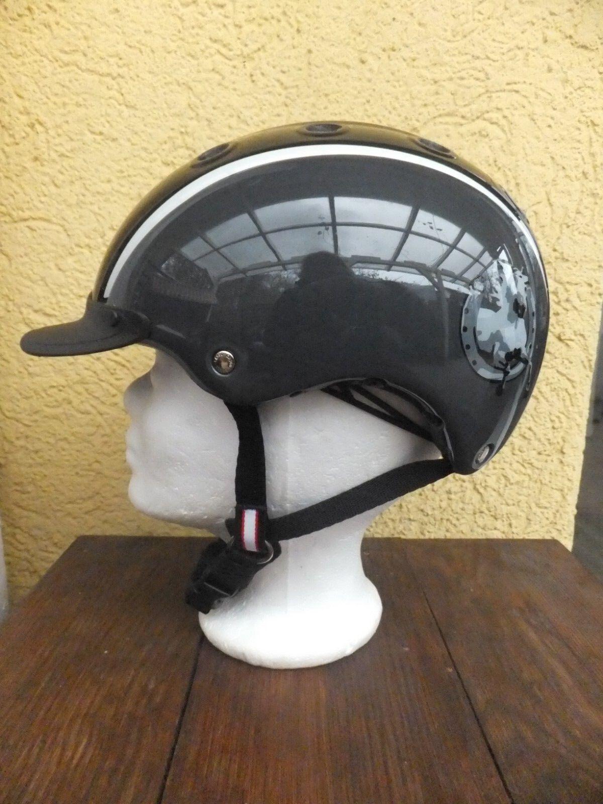 nuevas  casco nori herradura negro reithelm modelo 2018 con vg1.01 sello  colores increíbles