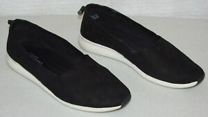 Cole-Hann-Studio-Grand-Size-10B-Black-Suede-Slip-On-Flats-Shoes