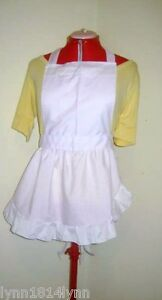 GIRLS-ALICE-IN-WONDERLAND-FANCY-DRESS-COSTUME-APRON-ONLY-Up-to-12-yrs-old