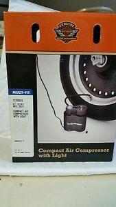 harley davidson 12v volt portable compact air compressor with light rh ebay com Harley-Davidson Tire Pump Harley-Davidson Tire Pump