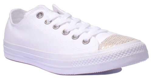 Uk All 8 Gold Converse Low Taylor 3 Women Star Size Trainer Chuck White Toe wnOFqEOP0