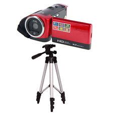 Red 16MP 16X Digital Zoom HD 720P Video Camcorder Camera DV + WT3110A Tripod