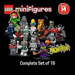 LEGO-71010-Minifigures-Series-14-MONSTERS-complete-set-of-16