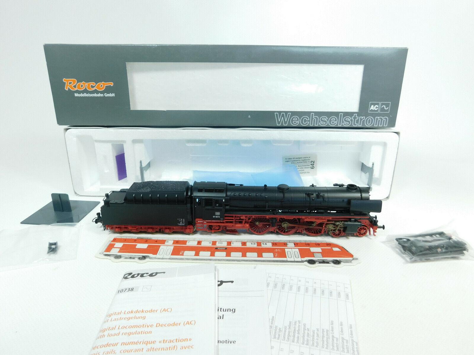 Bg555-1  roco h0 ac 69213 máquina de vapor vapor locomotora 01 1072 DB nem digital, embalaje original