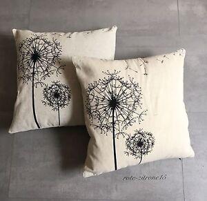 kissenbezug l wenzahn 2x kopfkissenbezug pusteblume sofa kissen deko kissen bett ebay. Black Bedroom Furniture Sets. Home Design Ideas