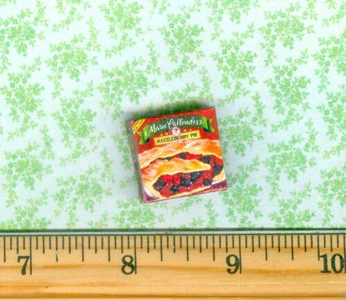 DOLLHOUSE Miniatures SIZE  Frozen Berry  Pie Box