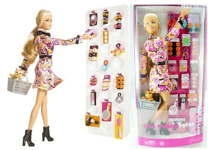 Barbie moda fiebre Tienda de cabello 2006 Mattel Muñeca Original Caja Cerrada J231 Como Nuevo