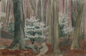 Marthe-Van-Deryken-1892-1981-Wald-Landschaft-Waldlandschaft-Wald-Landschaft