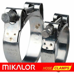 MIKALOR-Motorcycle-Stainless-Steel-Heavy-Duty-Hose-amp-Exhaust-Pipe-Muffler-Clamps