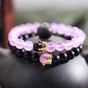 2pcs-Couple-Distance-Bracelet-CZ-Crown-Her-King-His-Queen-Natural-Stone-Bracelet