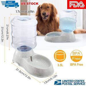 Automatic-Water-1-Gallon-Dispenser-Dog-Cat-Pet-Drinking-Fountain-Bowl-Dish-Large